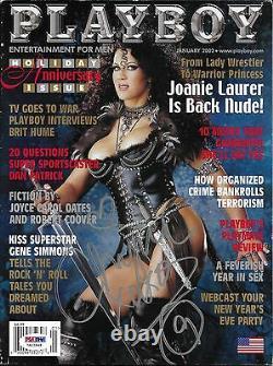 Chyna A Signé Janvier 2002 Playboy Magazine Psa/dna Wwe Diva Wrestling Autograph