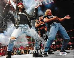 Chyna & X-pac Signed DX 8x10 Photo Psa/dna Coa Wwe Wrestling Picture Autograph