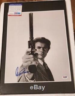 Clint Eastwood A Signé Dirty Harry 11x14 Adn Photo Psa (no Frame)