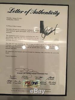Clint Eastwood Dirty Harry Signé 11 X14 Photo Psa / Adn Coa Lettre Pleine Dégagement