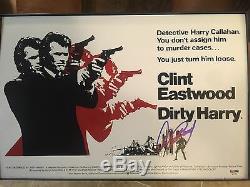 Clint Eastwood Dirty Harry Signé 12x18 Photo Psa / Adn Loa Complet Jeu Lettre