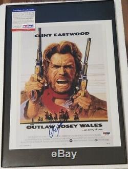 Clint Eastwood The Outlaw Josey Wales A Signé 11x14 Adn Photo Psa (no Frame)