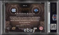 Collection Exquise 2011 Michael Jordan Larry Bird Psa/dna 9.5 Auto Psa Auth