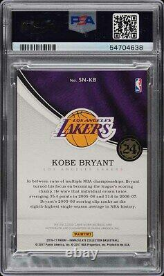 Collection Immaculée 2016 Kobe Bryant Patch Auto 1/1 Psa/dna Auth Psa Auth