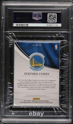Collection Immaculée 2016 Sneaker Stephen Curry Patch Psa/adn 8 Auto /25 Psa 4