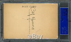 Cy Young Autographié Signé 1953-1963 Artvue Hof Plaque Carte Postale Psa / Adn 31157942