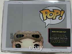 Daisy Ridley Signé Rey Funko Pop Star Wars Jedi Adn Goggles Psa Témoin Auto