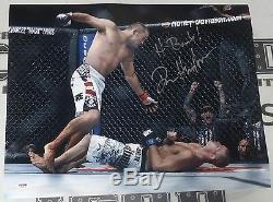 Dan Henderson Signé Ufc 100 16x20 Photo Psa / Adn Coa H-bomb Image Autograph 17