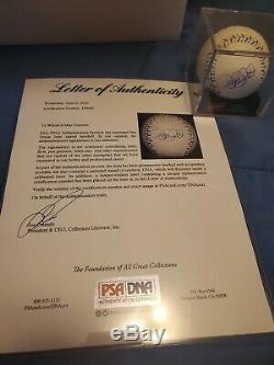 Derek Jeter Autographed 2012 All Star Game Baseball Psa / Adn Authentification