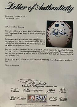 Derek Jeter Autographed Signed Officiel Mlb Baseball Psa Adn Pleine Lettre Coa