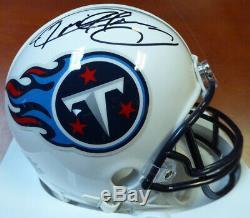 Derrick Henry Autographié Signé Tennessee Titans Mini Casque Psa / Adn 104774