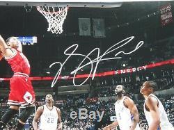 Derrick Rose Psa / Certifié Adn Signé 16x20 Photograph Autograph Chicago Bulls