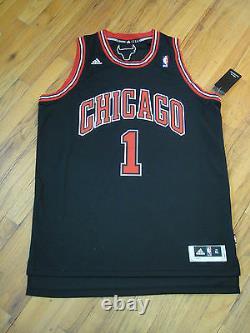 Derrick Rose Psa/dna Signé Adidas Swingman Chicago Bulls Jersey Autographe Mint