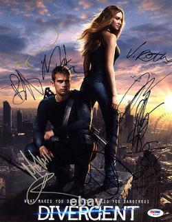 Divergent Cast Multi Signé 11x14 Photo +10 Lettre Complète Psa/adn Dédicacé