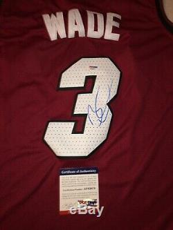 Dwayne Wade, Chandail Autographié, Miami Marlins Jersey, Coa / Coa