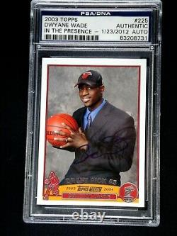 Dwyane Wade Psa/dna Signed 2003 Topps Rookie Card #225 Mint Autograph Auto Heat