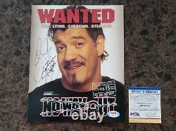 Eddie Guerrero Signé Wwe 8x10 Photo Autographiée Psa Dna Certifié