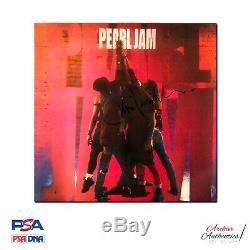 Eddie Vedder Pearl Jam Ten Signé Vinyl Lp Psa / Adn Coa