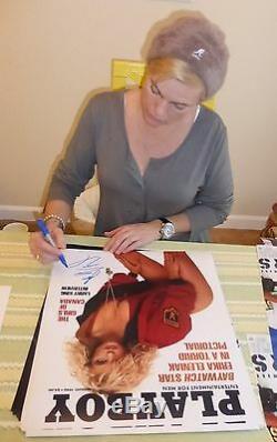 Erika Eleniak Signé 16x20 Photo Psa / Dna Coa 90 Alerte À Malibu Playboy Magazine Poster