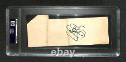 Evel Knievel Daredevil Snake River Canyon Jump Auto Signé Full Ticket Psa/dna