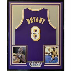 Framed Autographié/signé Kobe Bryant 33x42 La Purple Jersey Psa/dna Coa Auto