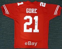 Frank Gore Autographié De San Francisco Signé Jersey Red Psa / Adn 165116