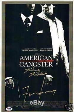 Frank Lucas Et Richie Roberts Signé American Gangster 11x17 Poster Psa / Adn Coa