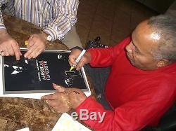 Frank Lucas Signé American Gangster Film 11x17 Poster Psa / Adn Coa Autograph