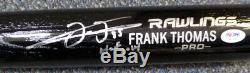 Frank Thomas Autographié Signé Rawlings Bat White Sox Hof 14 Psa / Adn 110761