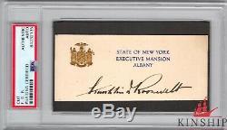 Franklin Delano Roosevelt A Signé Cut Psa Adn Slabbed Gras Auto Rare C534