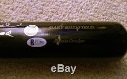 Gary Sheffield 2009 Mlb Jeu Utilisé Signé Autographié Batte De Baseball Psa / Dna Loa