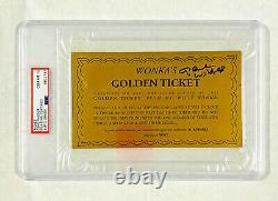 Gene Wilder Signé Willie Wonka Golden Ticket Psa/adn Gem Mt 10 Classé