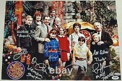 Gene Wilder + Willy Wonka Kids X6 Cast Signé 12x18 Garden Photo Psa/dna Loa Coa