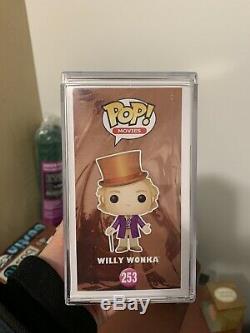 Gene Willy Wonka Funko Pop Sauvage Signé Avec Coa Psa / Adn