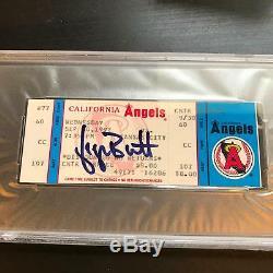 George Brett 3000e Hit Signé 10 Septembre Ticket, 1992 Psa Adn Coa Auto