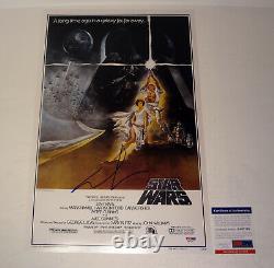 George Lucas Directeur Signé Autograph Star Wars Affiche De Cinéma Psa/adn Coa