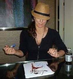 Gina Carano Signé Ufc Photo 8x10 Psa / Dna Coa Autograph Photo Espn Topless Mma