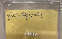 Hank Aaron Autosigné Autographié 1977 Braves Banque Psa Vérifier / Adn Slab 1657 Rare