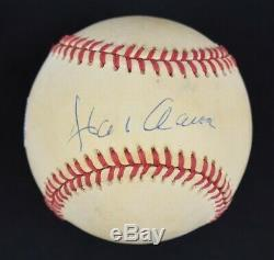Hank Aaron Hof Signé Vintage Onl William D. White Baseball Loa Psa / Adn