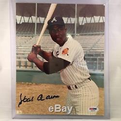 Hank Aaron Signé Autographié 8x10 Picture Photo Psa Adn Coa