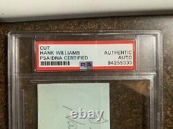 Hank Williams Sr. Signature Autographed Psa Dna Encapsulé
