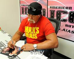 Hulk Hogan & Tiny Lister Zeus Signé Wwe 8x10 Photo Psa/dna Coa No Holds Barred