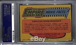 Irvin Kershner 1980 Topps Empire Strikes Back Carte Autographiée Et Signée Psa / Dna