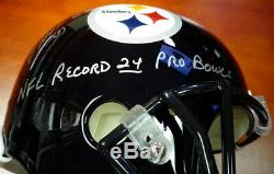 Jack Lambert, Ham & Russell Autographié Pleine Taille Casque Steelers Psa / Adn 89876