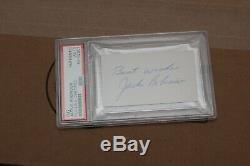 Jackie Robinson Cut Autographié Psa / Adn