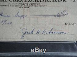 Jackie Robinson Psa / Adn Graded 9 Mint Signé Chèque Certifié Autograph Authentique