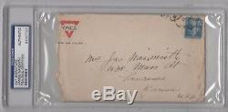 James Naismith Psa / Adn Signé Enveloppe Autographe Certifié Authentique, Rare