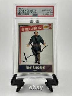 Jason Alexander A Signé Seinfeld George Custom Card B Auto Psa/adn Encapsulé