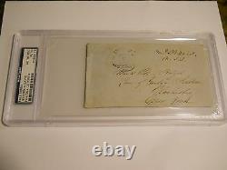 Jefferson Davis Signed Free Frank Panel Psa/dna Auto CIVIL War President