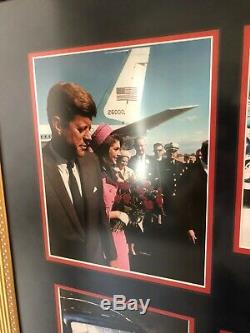 Jfk John F. Sanguinolente Cuir Adn Kennedy-dallas Limo + Photo Autographiée-psa